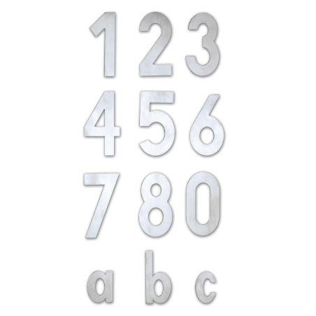Numéro de maison inox à visser hauteur 120mm