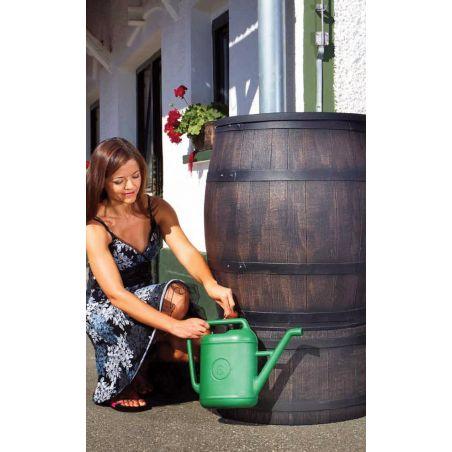 Récupérateur eau de pluie aspect fût en bois