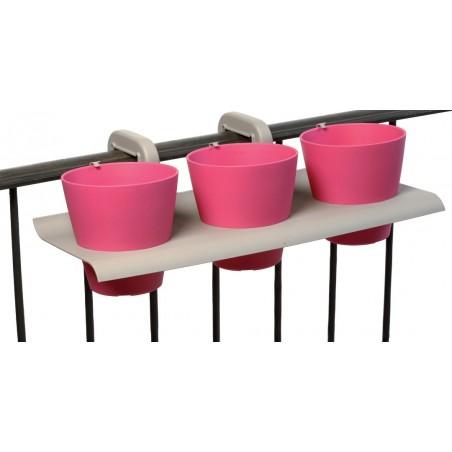 Set de 3 pots de fleurs balcon