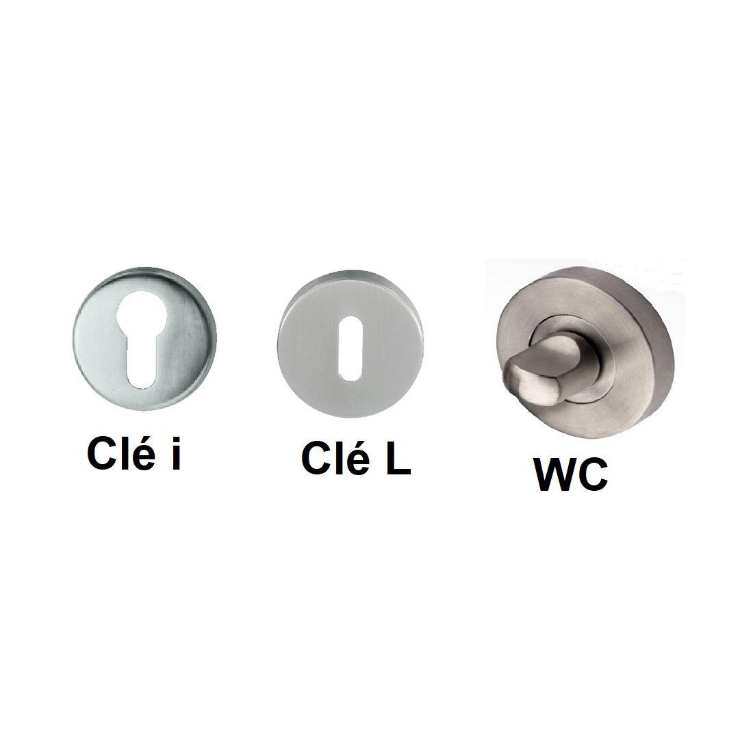 Lienbacher Cuba Poign/ée de porte en acier inoxydable avec cylindre profil/é